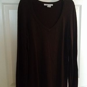 Soft cotton sweater tunic by Cabi